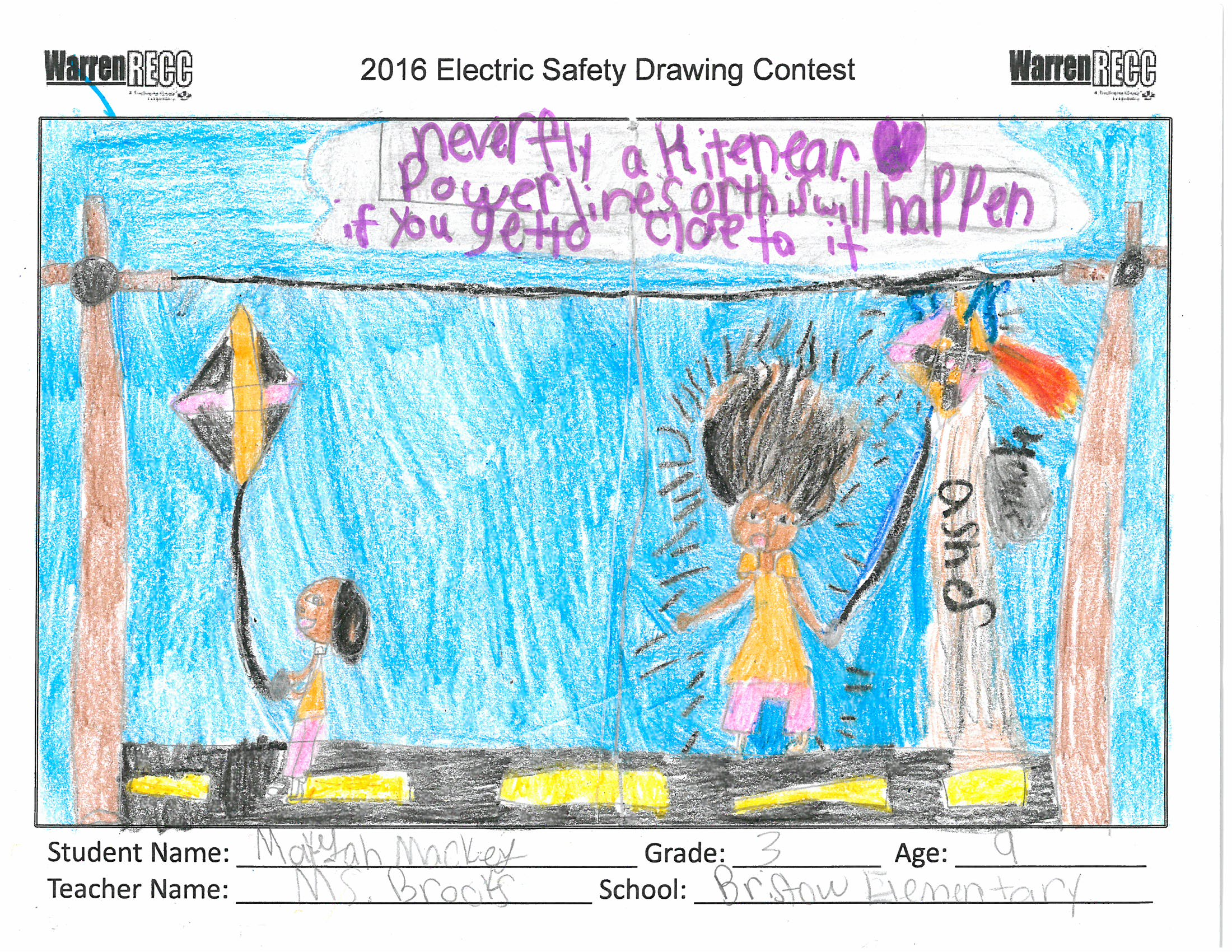 Electric Safety Drawing Contest Wrecc