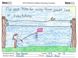Electric Safety drawing contest winning picture