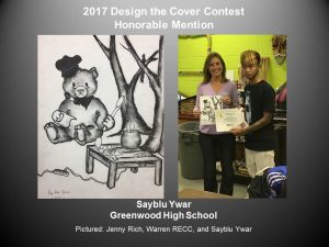 Design the Cover Contest Honorable Mention, Sayblu Ywar of Greenwood H.S.
