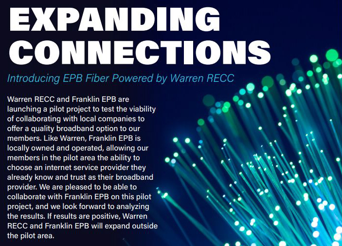 expanding connections, introducing EPB Fiber Powered by Warren RECC.